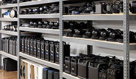 Pro Gear Orlando Equipment Shelves